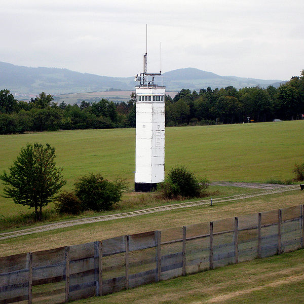 image of East German BT-9 border watchtower at Point Alpha, Thuringia.