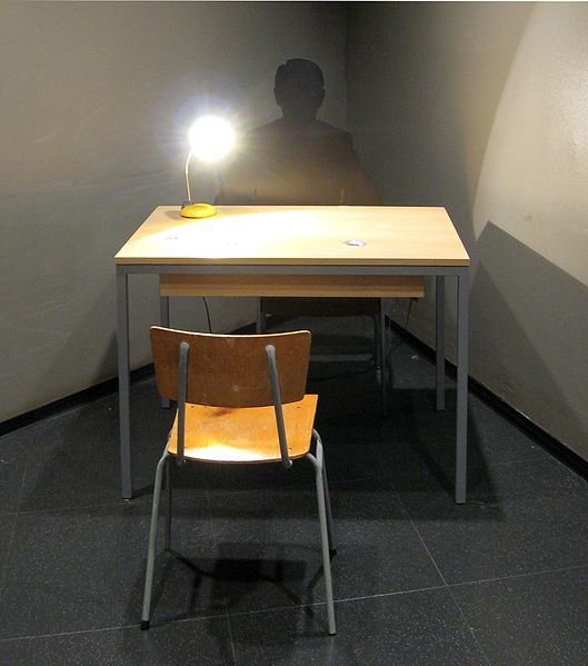 Image of Stasi interrogation room, Berlin museum