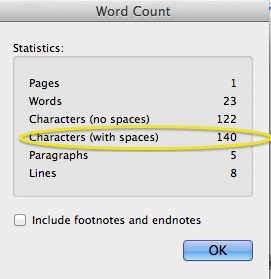 Image of Word Count function