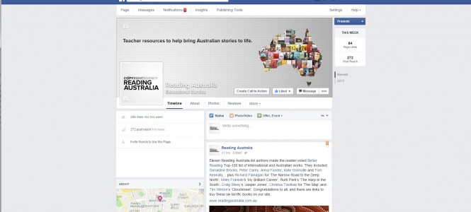 Reading Australia Facebook Launch