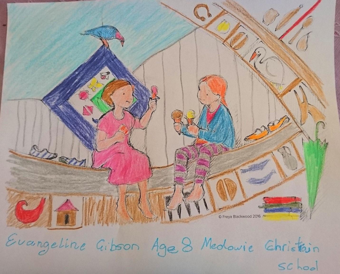 Evangeline G, age 8, Medowie Christian School, NSW.