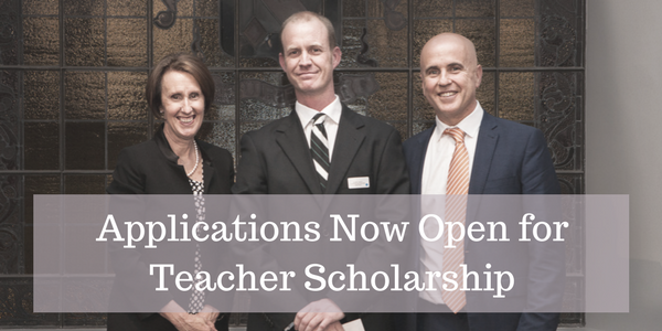 Teacher scholarship blog banner